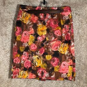 🍂 Fall Floral Print J. Crew Pencil Skirt